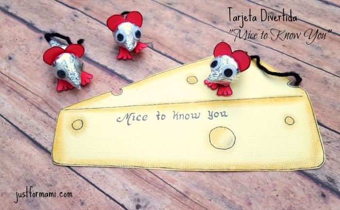 Tarjeta Divertida Mice to know you