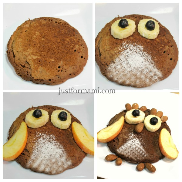 Pancake de Búho Collage #